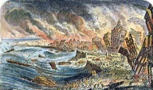 Lisbon Earthquake, 1755 Painting; Lisbon Earthquake, 1755 Art Print for sale